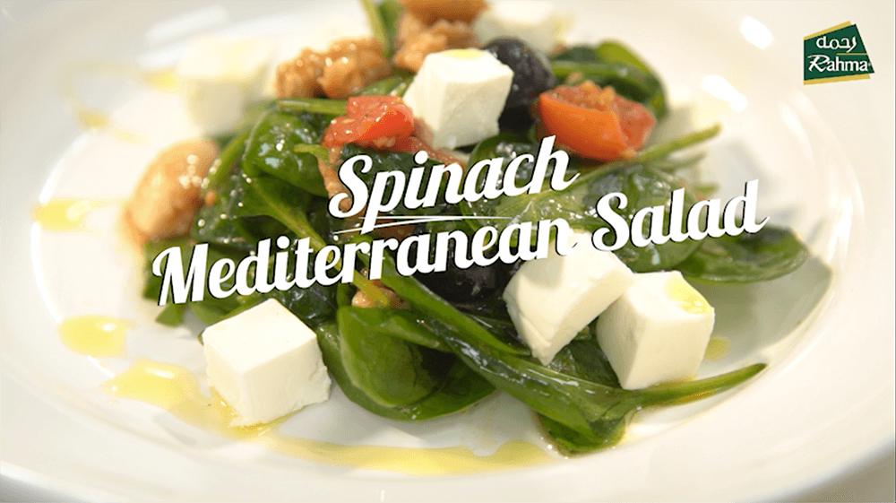 Spinach Mediterranean Salad - Rahma